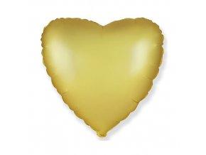 Foliový balonek saténové srdce pastel zlaté 46 cm