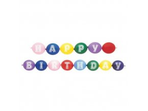 Spojovací balonky Happy Birthday 14 ks