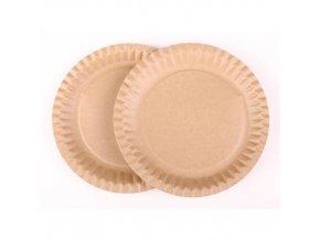 Papírový talíř KRAFT 23 cm - 100 ks