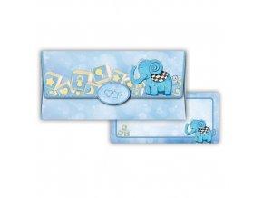 Obálka na peníze Modrý slon