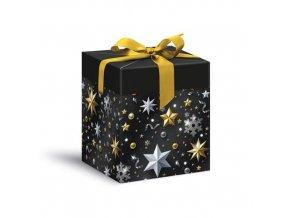 Dárková krabička Luxus Christmas - rychloskládací 12 x 15 cm