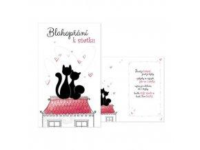 Svatební přání Blahopřání k sňatku - Zamilované kočičky