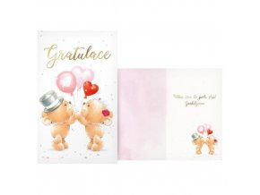 Svatební přání Gratulace zamilovaní medvídci