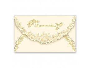 Svatební přání Novomanželům - zlaté růžičky