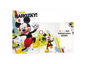 Narozeninové přání Mickey s volbou věku
