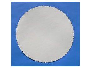 Papírové podložky pod dort kulaté bílé 30 cm (10 ks)