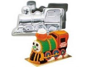 Dortové formy 3D lokomotiva