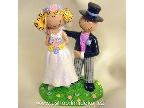 Svatební dekorace 8085 (Výška figurky 10 cm)