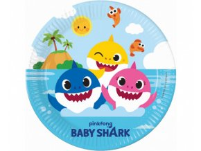 Papírové talířky Baby Shark 23 cm