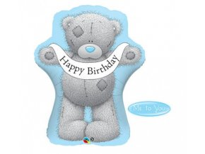 Foliový balonek medvídek Me to You - Happy Birthday 91 cm
