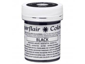Barva do čokolády na bázi kakaového másla Sugarflair Black (35 g)