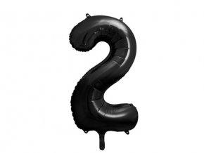 Foliová číslice - černá 2 - 86 cm