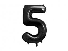 Foliová číslice - černá 5 - 86 cm