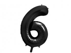 Foliová číslice - černá 6 - 86 cm
