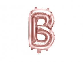 Foliové písmeno B rose gold 35 cm