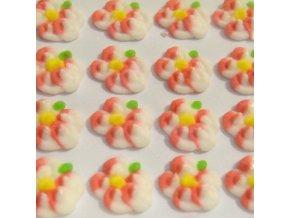 Cukrové ozdoby Timidekor - žíhané červené (Trvanlivost cca 10 měsíců, Složení cukr, bramborový škrob, voda, vaječný bílek, kyselina citronová E330, glycerol E422, regulátor kyselosti E311c, zvlhčující látka)