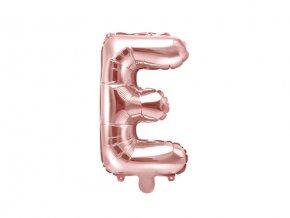 Foliové písmeno E rose gold 35 cm