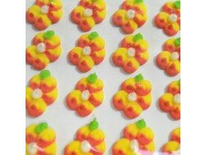 Cukrové ozdoby Timidekor - žíhané žluté (Trvanlivost cca 10 měsíců, Složení cukr, bramborový škrob, voda, vaječný bílek, kyselina citronová E330, glycerol E422, regulátor kyselosti E311c, zvlhčující látka)