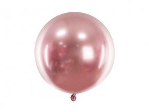 Latexový balonek chromový růžový 60 cm
