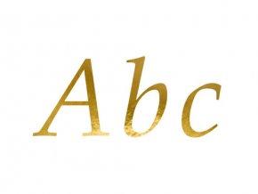 Nalepovací písmena na foliové balonky - zlaté
