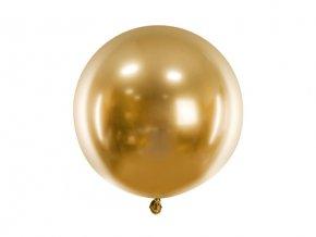 Latexový balonek chromový zlatý 60 cm