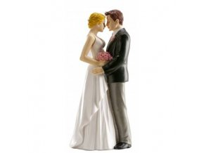 Svatební figurka na dort 16cm opravdová láska - Dekora