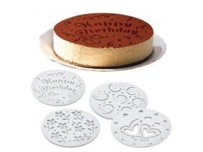 Šablona na zdobení dortů 4ks TORO