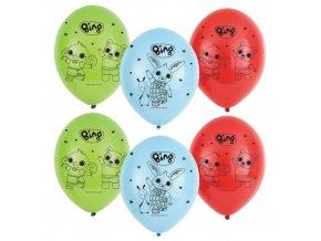 Latexové balonky Králíček Bing - 6 ks