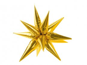 Dekorační Hvězda 3D zlatá 95 cm