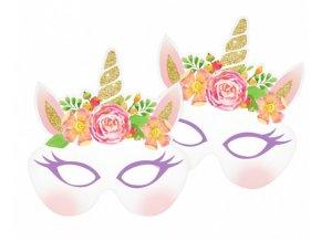 Party masky - Jednorožec Floral 6 ks