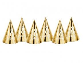 PartyDeco party čepičky zlaté 18. narozeniny (6 ks)