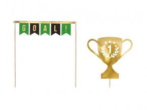 PartyDeco zapichovací dekorace na dort Fotbal