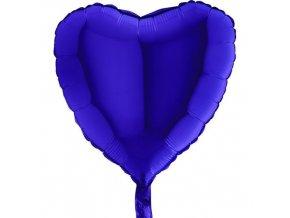 Foliový balonek srdce modré 45 cm