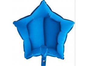 Foliový balonek hvězda modrá 45 cm