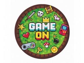 Party talíře MINECRAFT - Game On - 18 cm - 6 ks