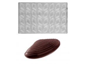 Forma na pralinky párovací (mušle 2x5g) 8x4 tvary/forma