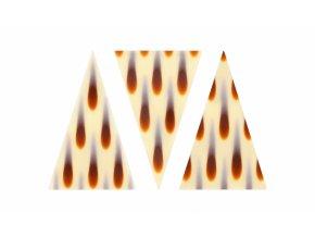 Čokoládová dekorace Trojúhelníky bílé vzor slzy (20 ks) Neposíláme v balících!