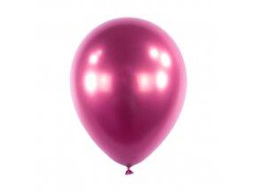 Dekorační chromový balonek Růžový 30 cm
