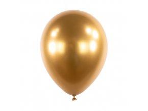 Dekorační chromový balonek Zlatý 30 cm