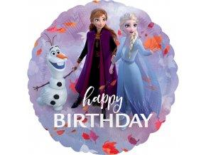 Foliový balonek Happy Birthday Frozen 2 - 45 cm