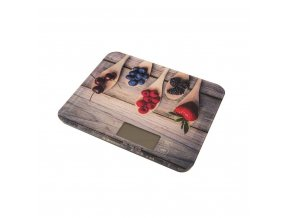 Digitální kuchyňská váha do 15kg lesní ovoce 22,5x18,5x1,8cm - Orion