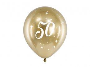 PartyDeco balónky zlaté lesklé 50 (6 ks)