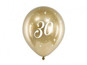 PartyDeco balónky zlaté lesklé 30 (6 ks)