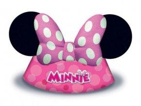 Party čepičky Minnie Mouse 6 ks