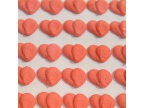 Cukrové ozdoby Timidekor - srdíčka červená (Trvanlivost cca 10 měsíců, Složení cukr, bramborový škrob, voda, vaječný bílek, kyselina citronová E330, glycerol E422, regulátor kyselosti E311c, zvlhčující látka)