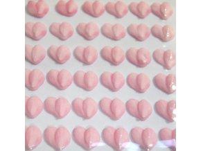 Cukrové ozdoby Timidekor - srdíčka růžová (Trvanlivost cca 10 měsíců)