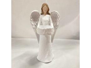 Svícen Anděl cca 19 cm