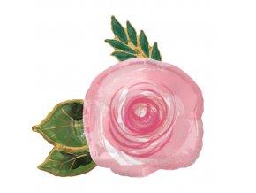 Foliový balonek růžová růže 76 x 73 cm