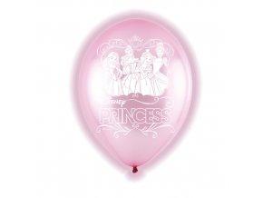 Latexové LED balonky Disney Princess 28 cm - 5 ks