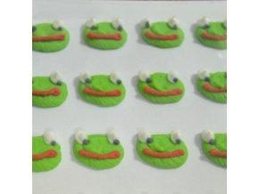 Cukrové ozdoby Timidekor - žabáci (Trvanlivost cca 10 měsíců, Složení cukr, bramborový škrob, voda, vaječný bílek, kyselina citronová E330, glycerol E422, regulátor kyselosti E311c, zvlhčující látka)